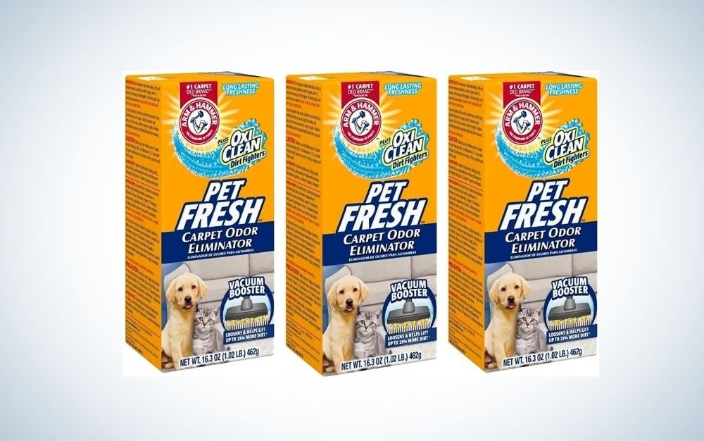 3 packs of powder stain and odor remover for pets