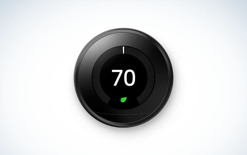 Dark Thermostat from the front