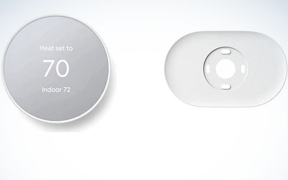 Gray Thermostat from front and back