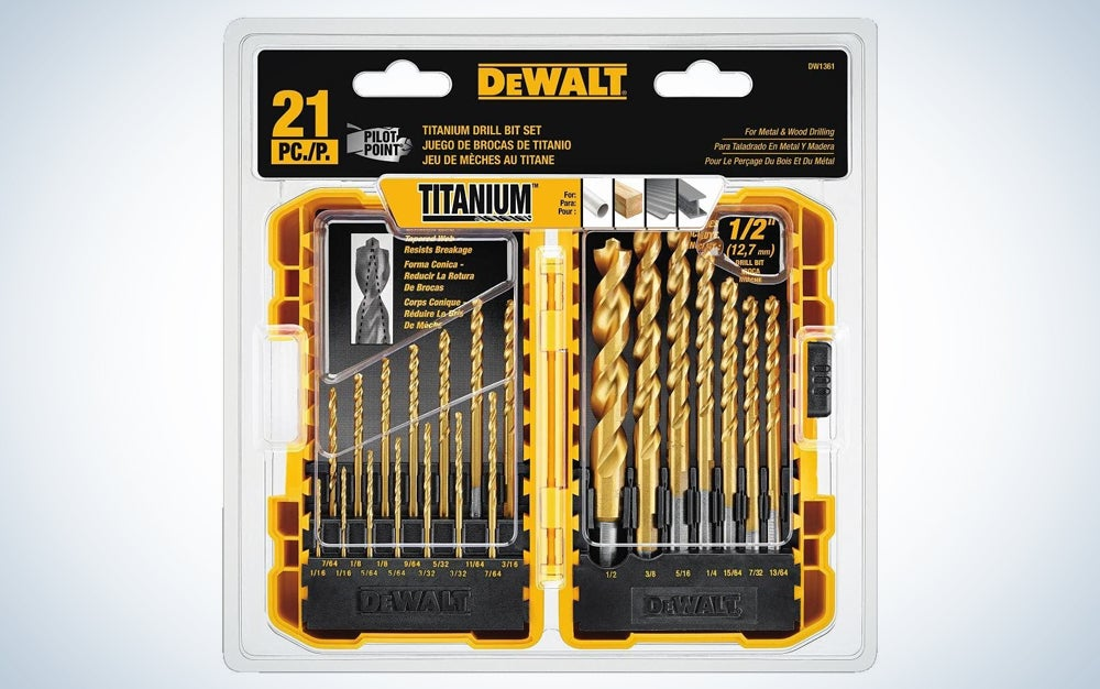 yellow drill bit set