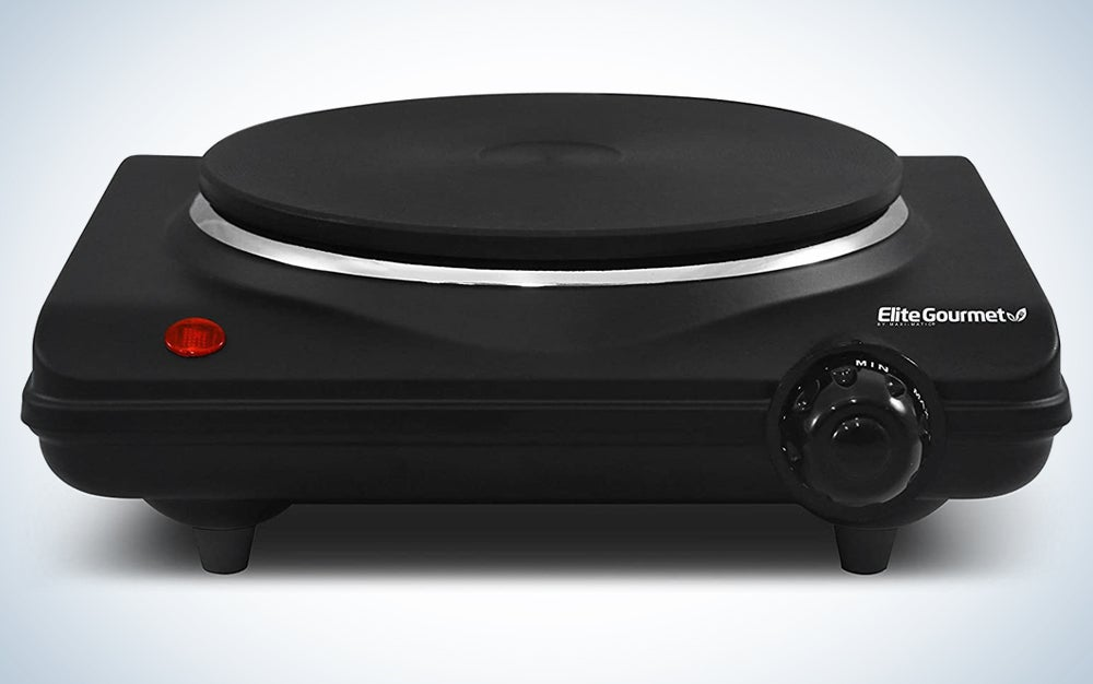 black electric hot plate
