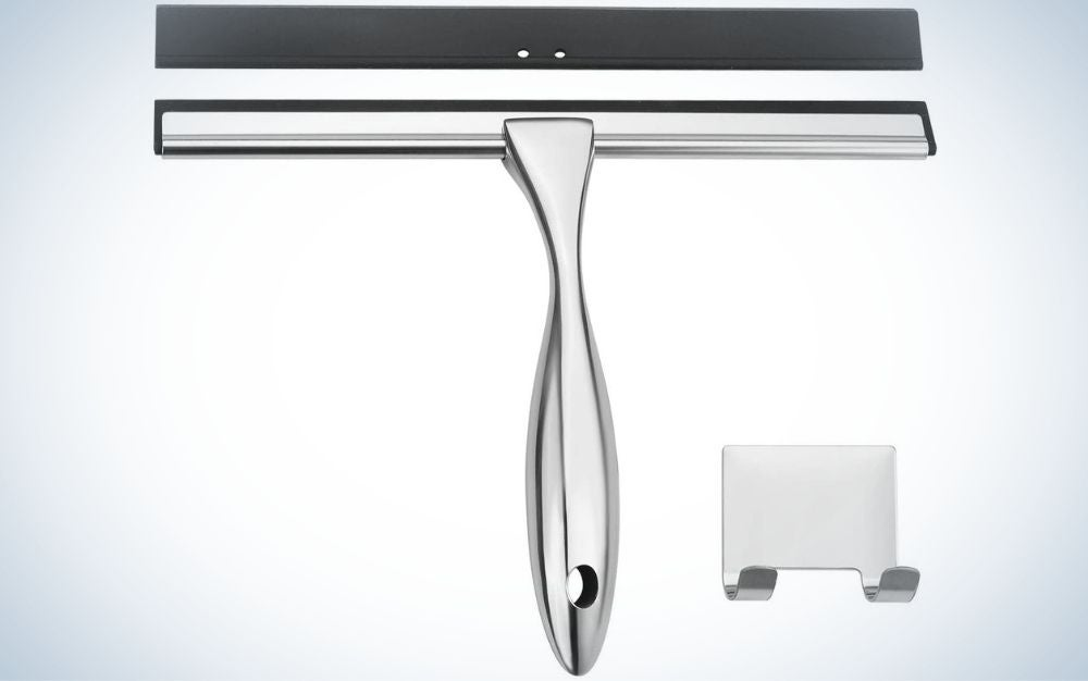 The AmazerBath Shower Squeegee is the best shower squeegee with replaceable blades.