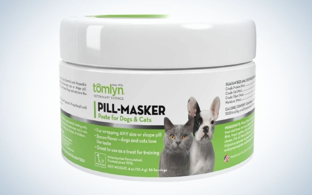 TOMLYN Pill-Masker Original Bacon-Flavored Paste for Dogs & Cats are the best paste.