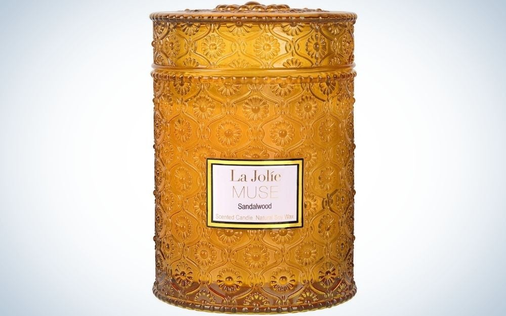 The LA JOLIE MUSE Wood Wick is the best decorative candle.