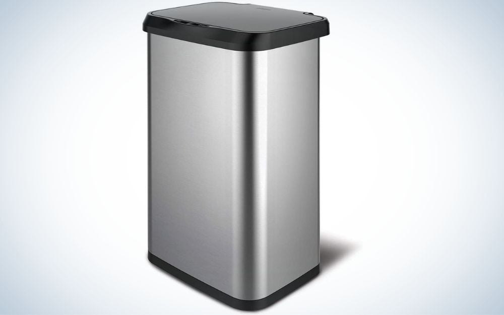 The Glad Stainless-Steel Trash Can with Clorox Odor Protection is one of the best touchless trash cans for value.