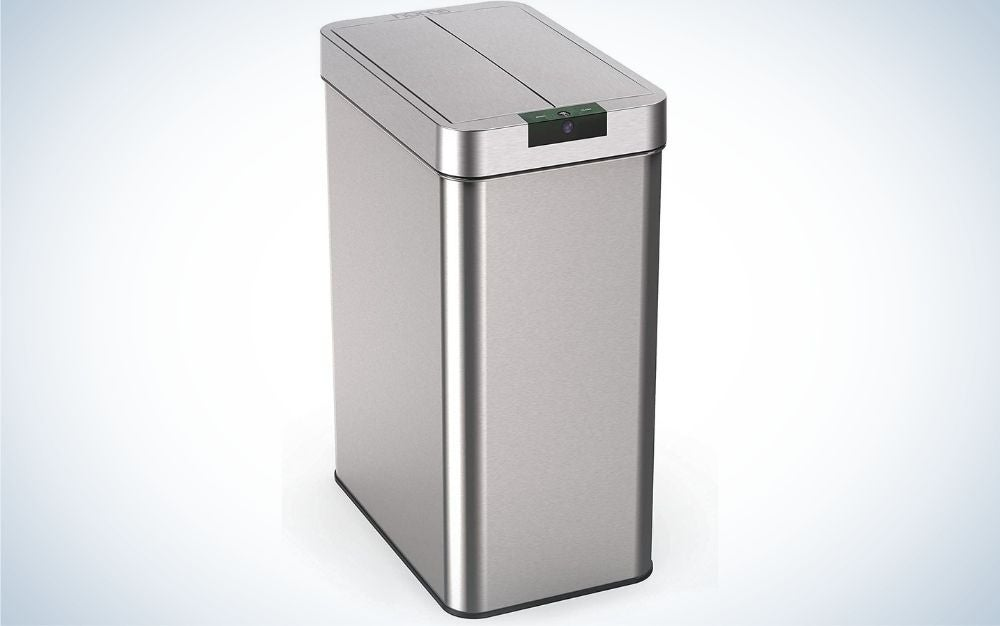 The hOmeLabs 13 Automatic Trash Can for Kitchen is one of the best touchless trash cans for tight spaces.
