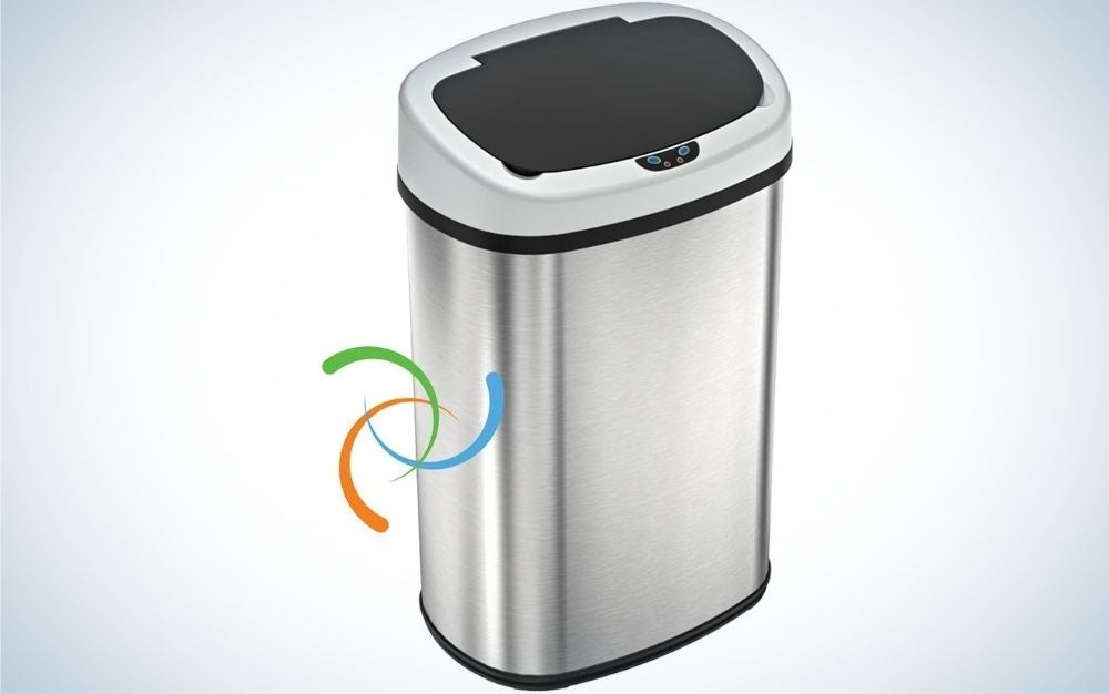 The iTouchless 13-Gallon Touchless Trash Can is the best touchless trash can overall.
