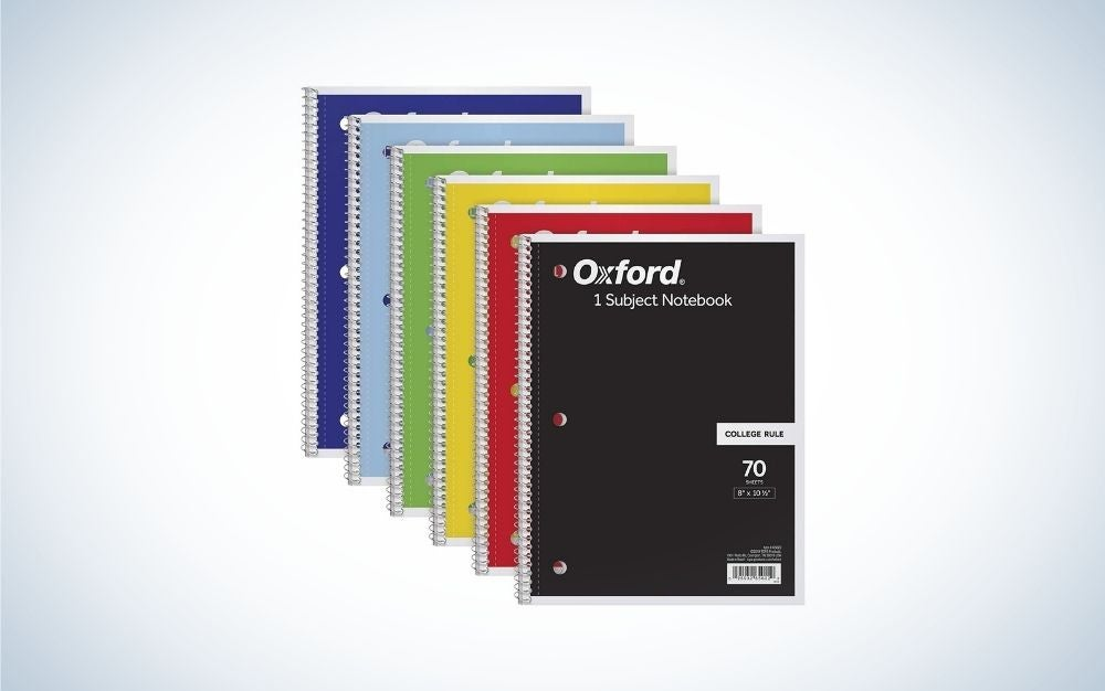 6 ruled, different colored writing pads