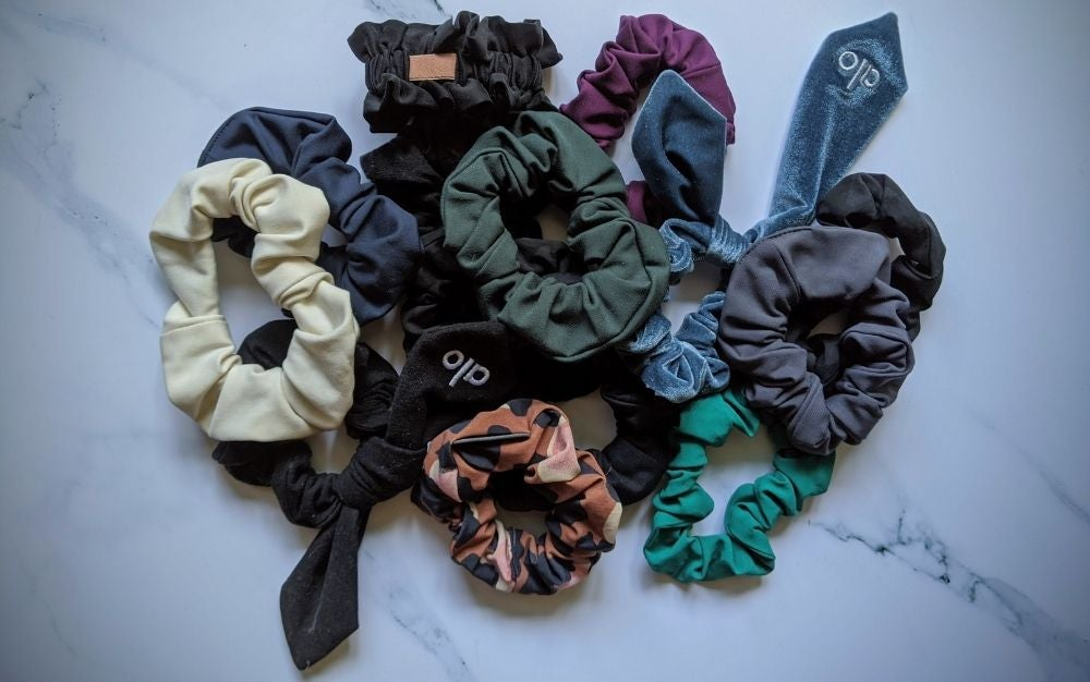 Different colored scrunchies