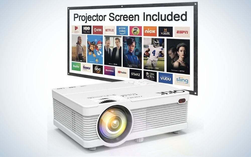 White, outdoor, portable projector