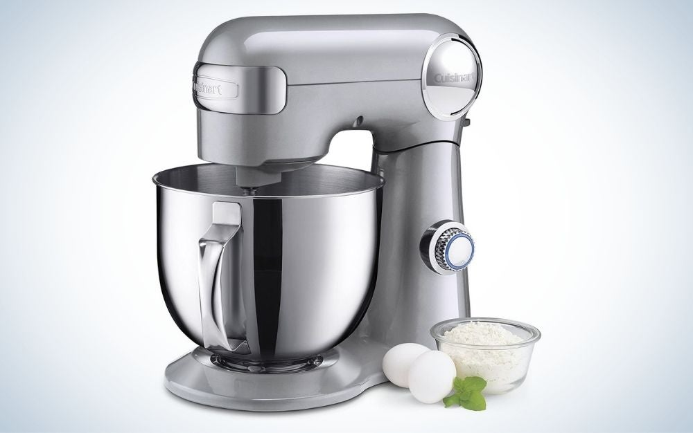Silver lining, stainless steel stand mixer