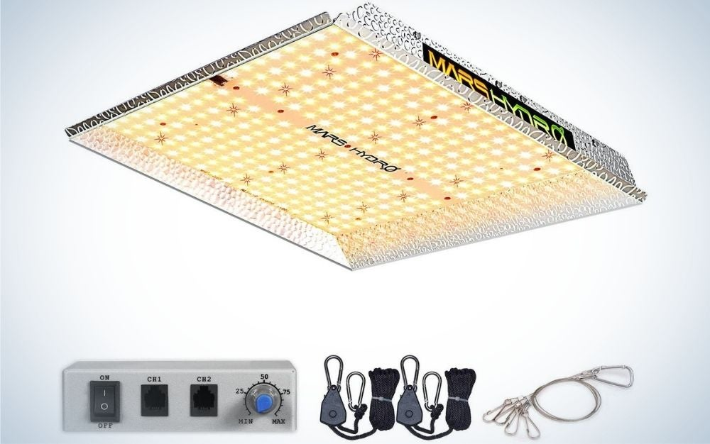 The MARS HYDRO TS 1000W Led Grow Light is the best spread.