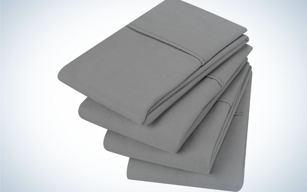 Four thin layers of gray on top of each other.