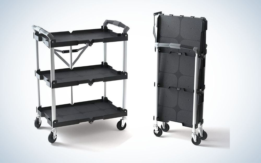 The Olympia Tools Collapsible Service Cart is the best collapsible.