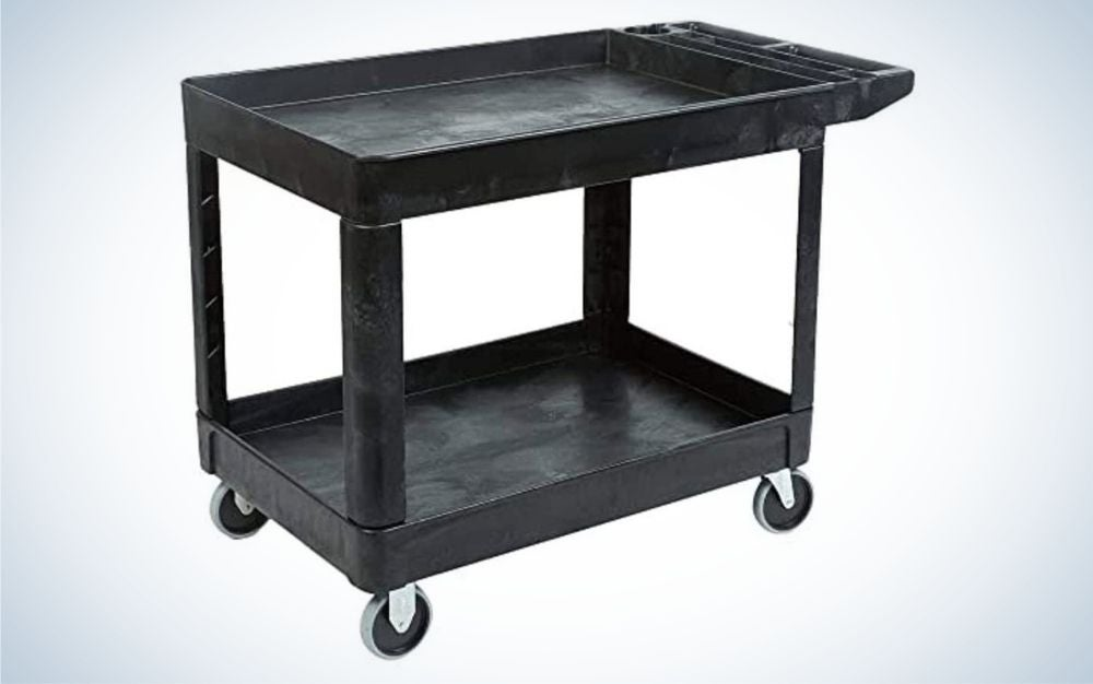 The Rubbermaid Commercial Utility Cart is the best for commercial use.
