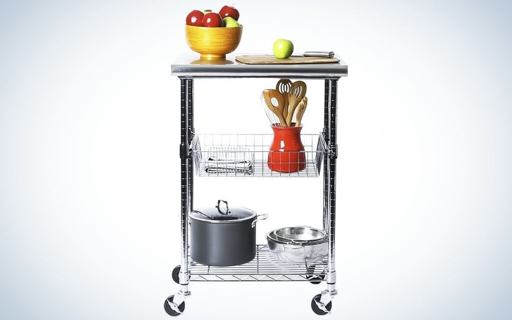 The Seville Classics Professional Kitchen Utility Cart is the best for large spaces.