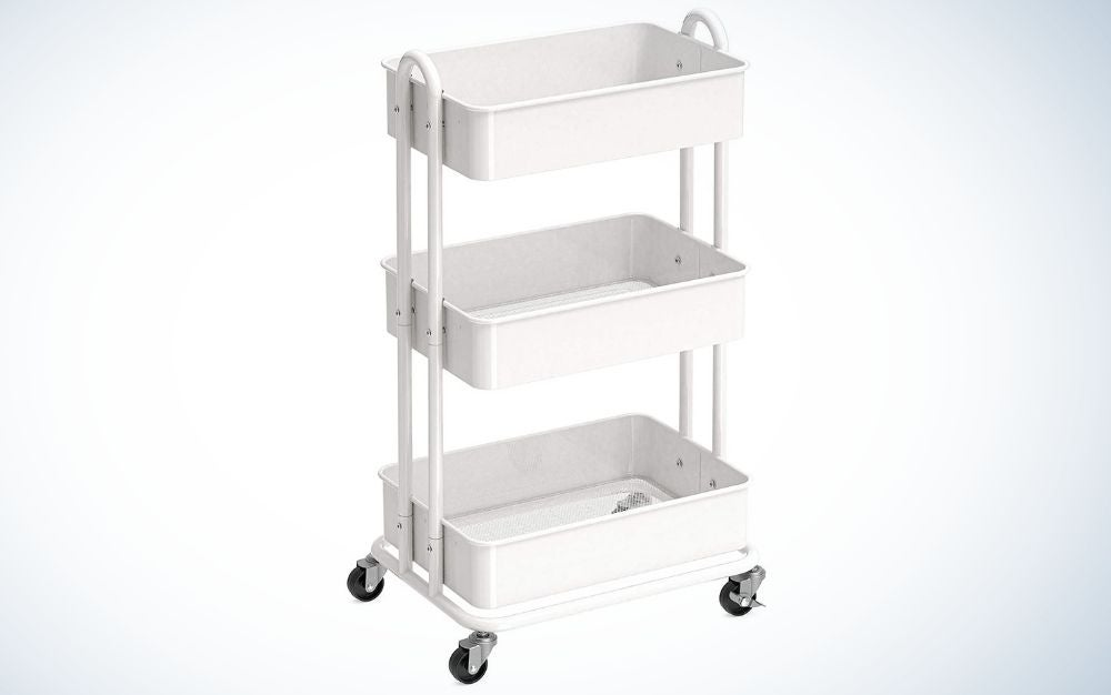 The Simple Houseware Rolling Utility Cart is the best value.