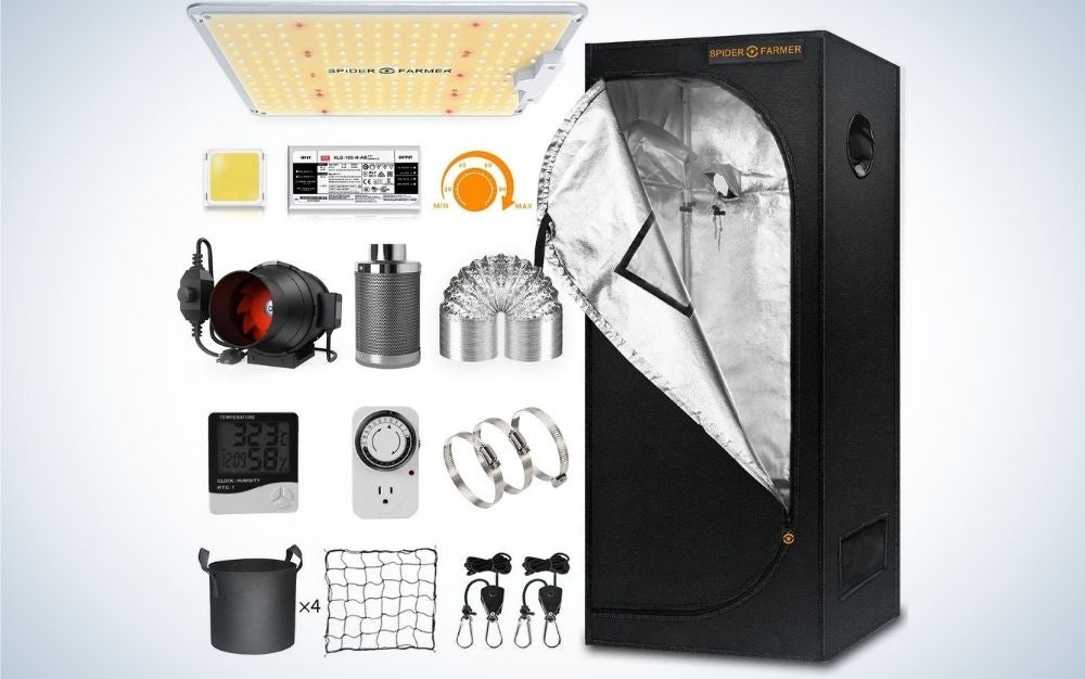The Spider Farmer Grow Tent Kit Complete is the best garden tent kit.