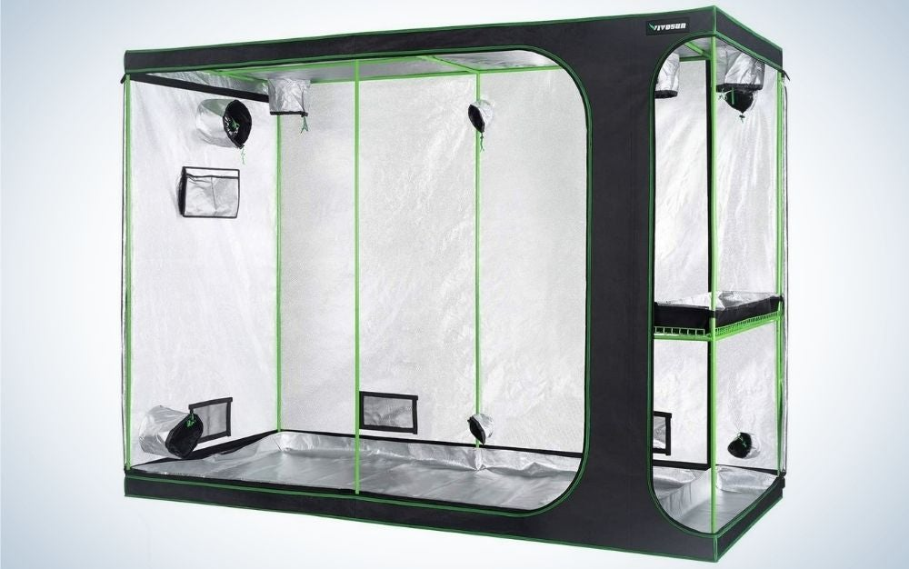 The Vivosun 2-in-1 is the best high-capacity hydroponic tent.