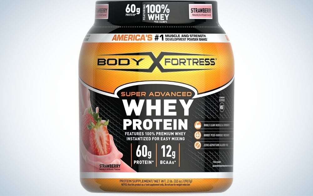 Body Fortress Super Advanced Whey Protein Powder is the best value.
