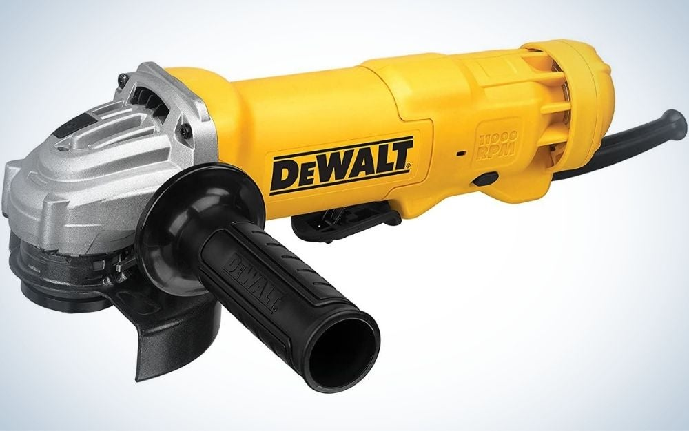"""The DeWalt 4-1/2"""" Angle Grinder is the best overall model."""