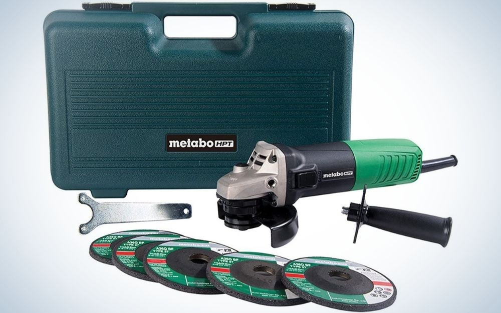 """The Metabo HPT 4-1/2"""" Angle Grinder is the Best Value."""