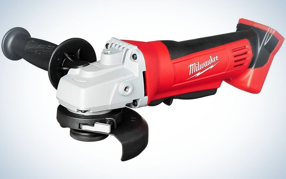 """The Milwaukee Cordless 4-1/2"""" Angle Grinder is the Best Cordless model."""