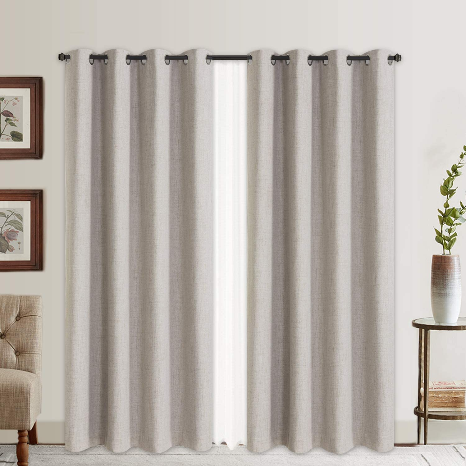 The Rose Home Fashion 100% Blackout Curtains are the most stylish