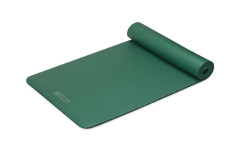 The Gaiam Essentials Thick Yoga Mat is the best value exercise mat