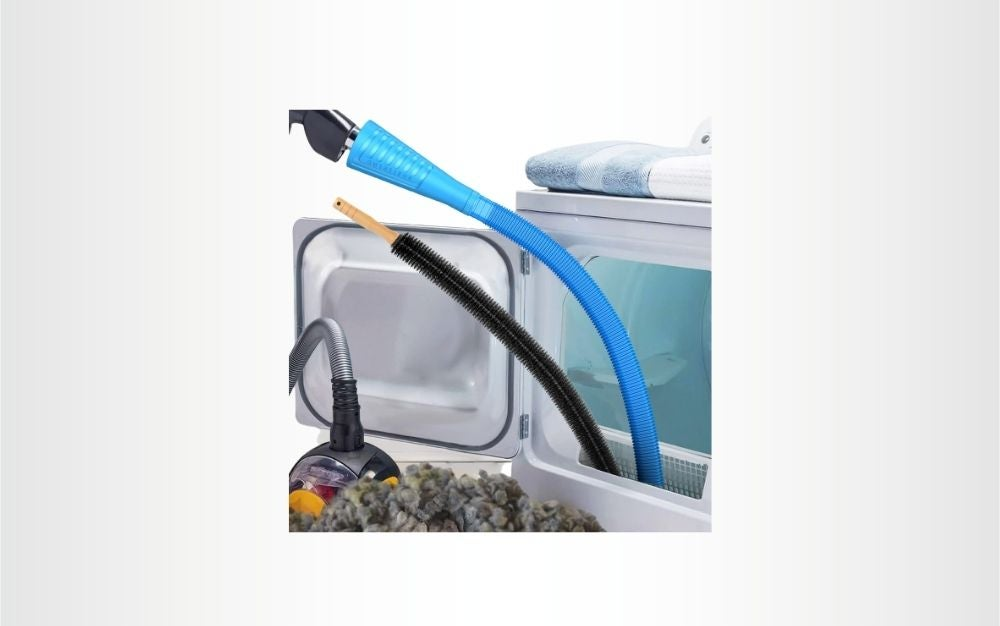 The 2 Pack Sealegend Dryer Vent Cleaner Kit is the best dryer vent cleaner kit on a budget.