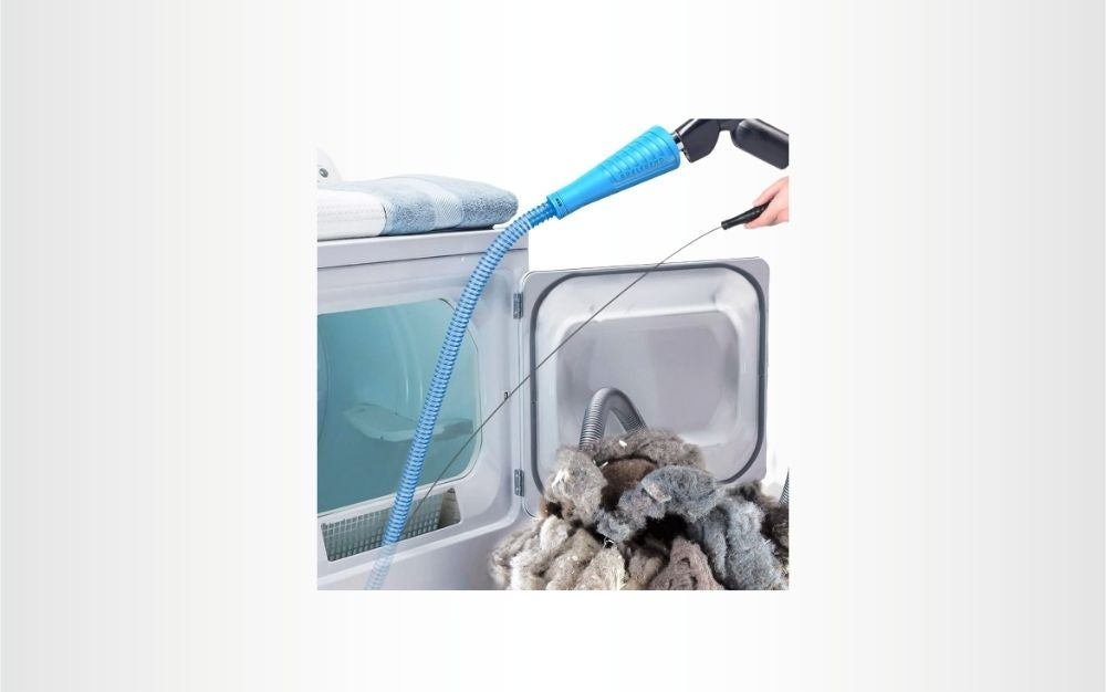 The Sealegend V2 Dryer Cleaner Kit is the best compact dryer vent cleaner kit.