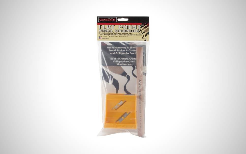 The General Pencil Flat Point Sharpener protect your hands from cuts.