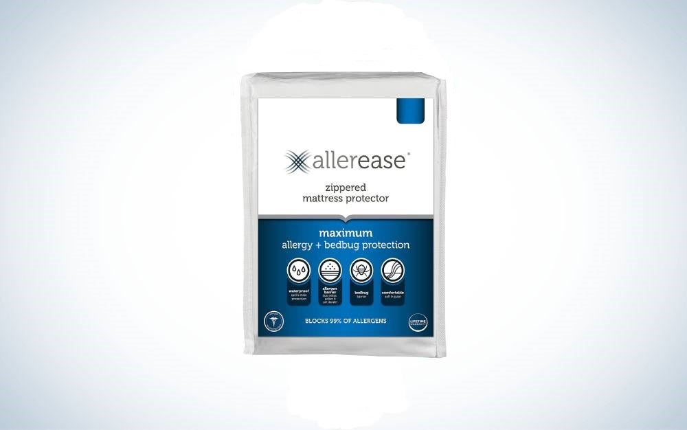 The Aller-Ease Maximum Allergy Mattress Protector is the best for allergies