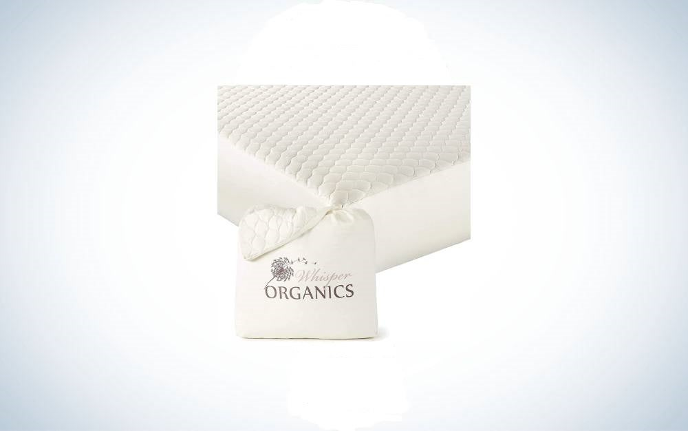 The Whisper Organic Mattress Protector is the best cotton mattress protector
