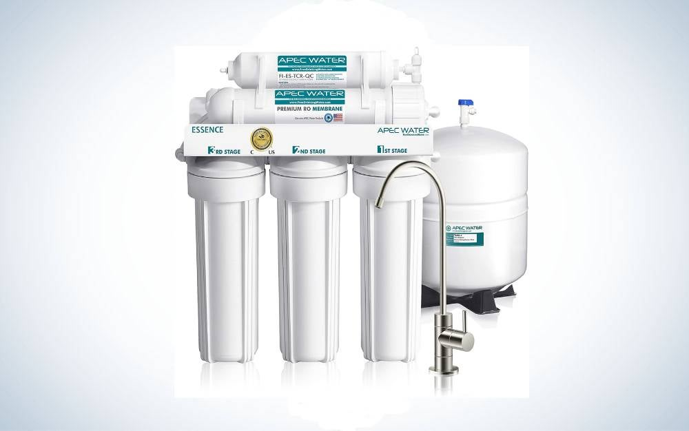 APEC ROES-50 Reverse Osmosis Filter System is best under-the-counter system.