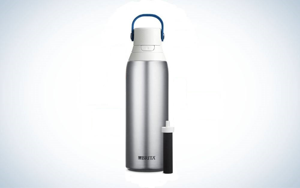 The Brita Stainless Steel Water Filter Bottle is the best filter bottle.