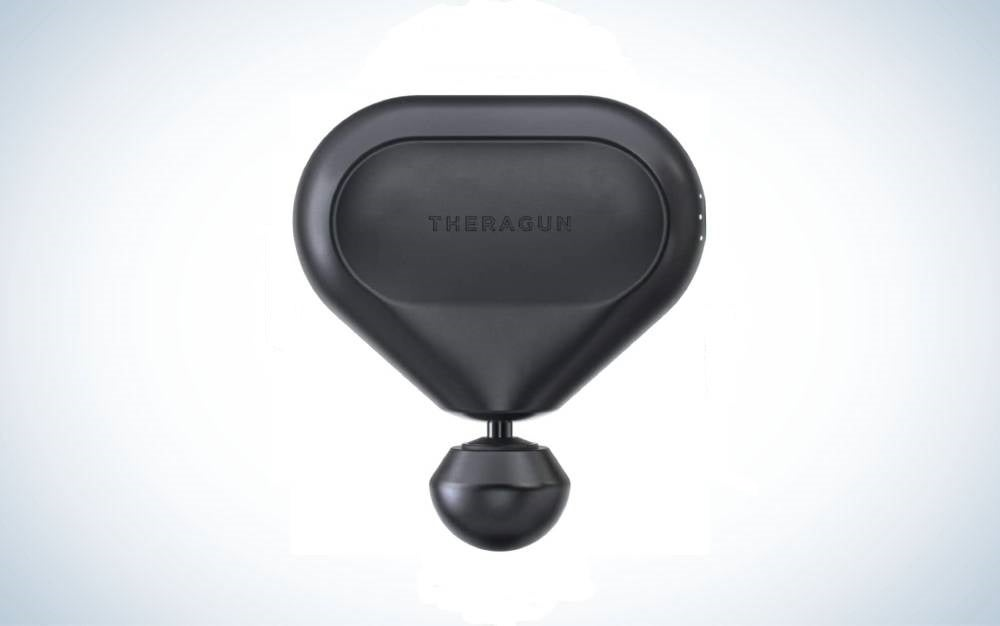 The compact Theragun Mini is the best portable massager
