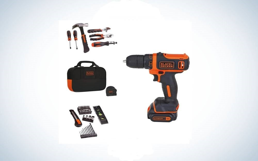 The Black+Decker 12V MAX Drill & Home Tool Kit is the best overall.