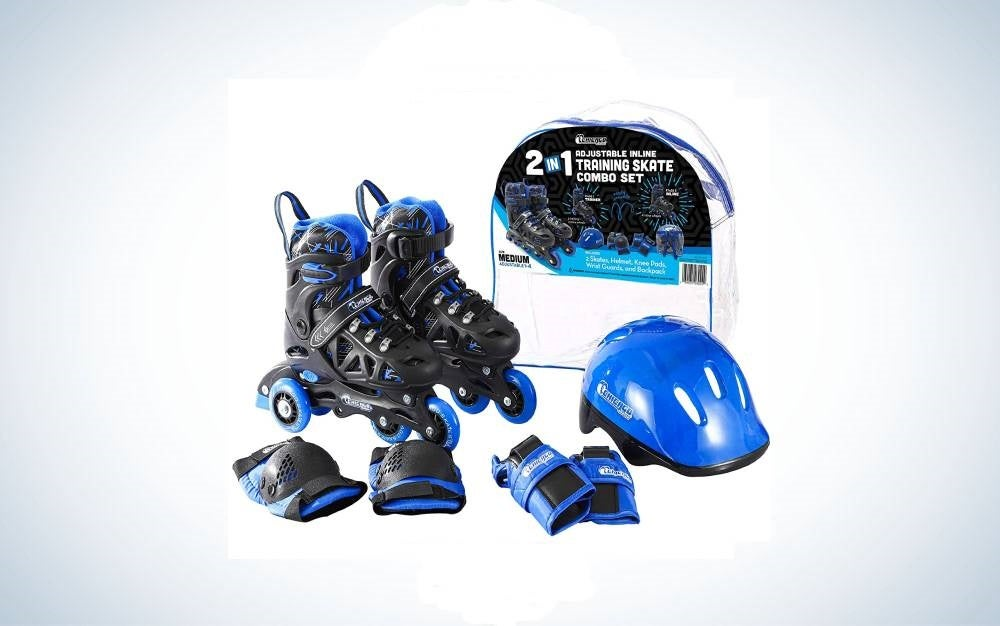 PAPAISON Adjustable Inline Skates for Kids and Adults is the best training set for kids.