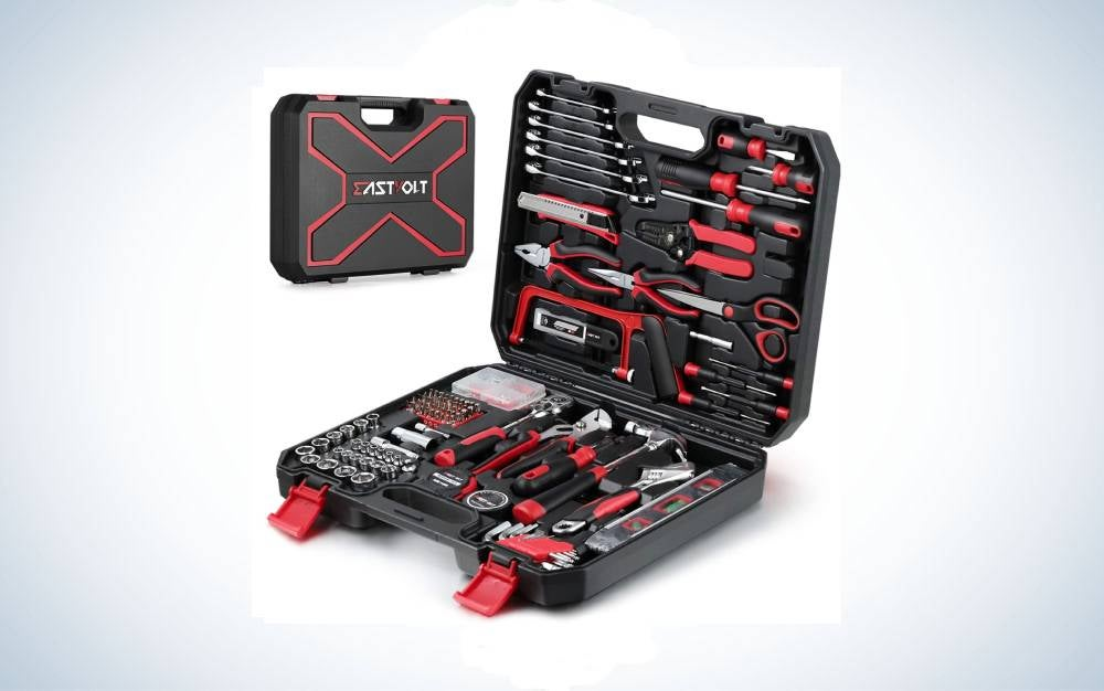 The Eastvolt 218-Piece Household Tool Kit is the best.
