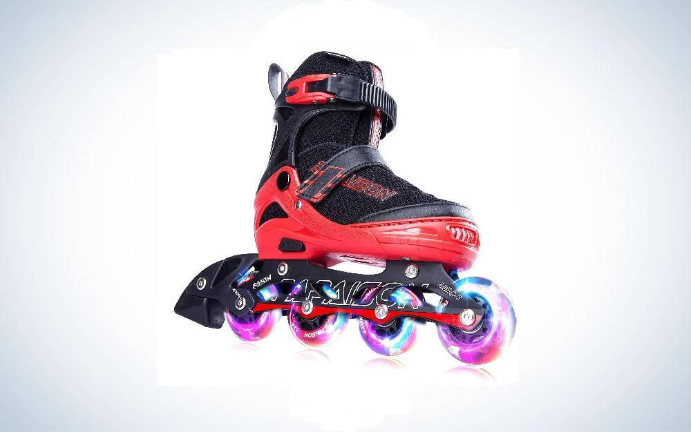 PAPAISON Adjustable Inline Skates for Kids and Adults is the best value.