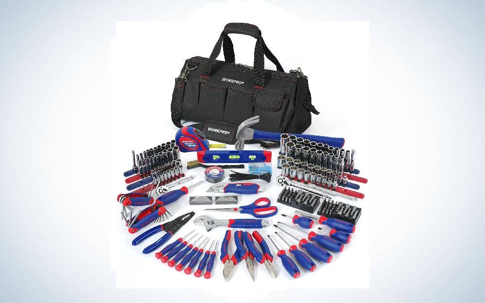 The Workpro 322-Piece Home Repair Hand Tool Kit is the best pro=level tool kit.