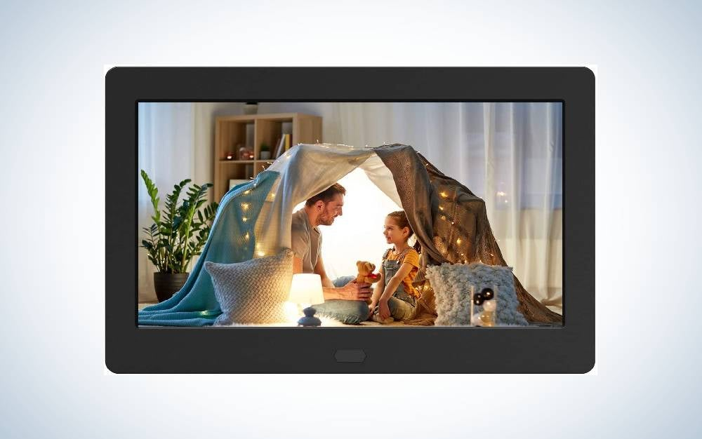 The Atatat Digital Frame with IPS Screen is the best compact.