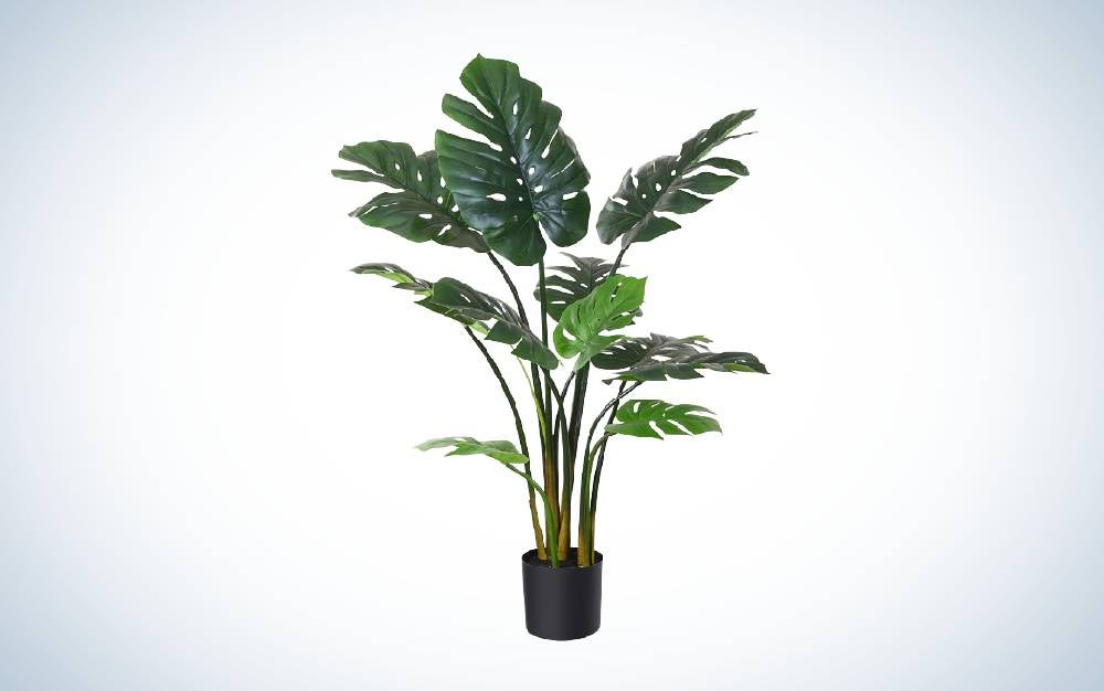 The Fopamtri Artificial Monstera Deliciosa Plant is one of the best fake plants overall.