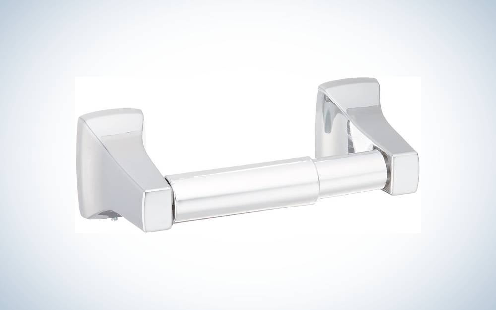 The Moen P5050 Contemporary Toilet Paper Holder is the best value.