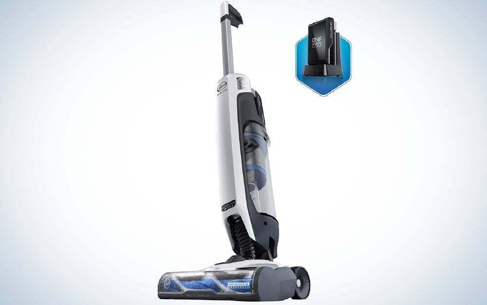 The Hoover ONEPWR Evolve Pet Cordless Upright Vacuum is the best cordless.