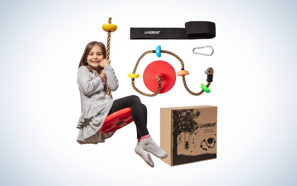 The Laegendary Climbing Rope Tree Swing is the best for playing and climbing.