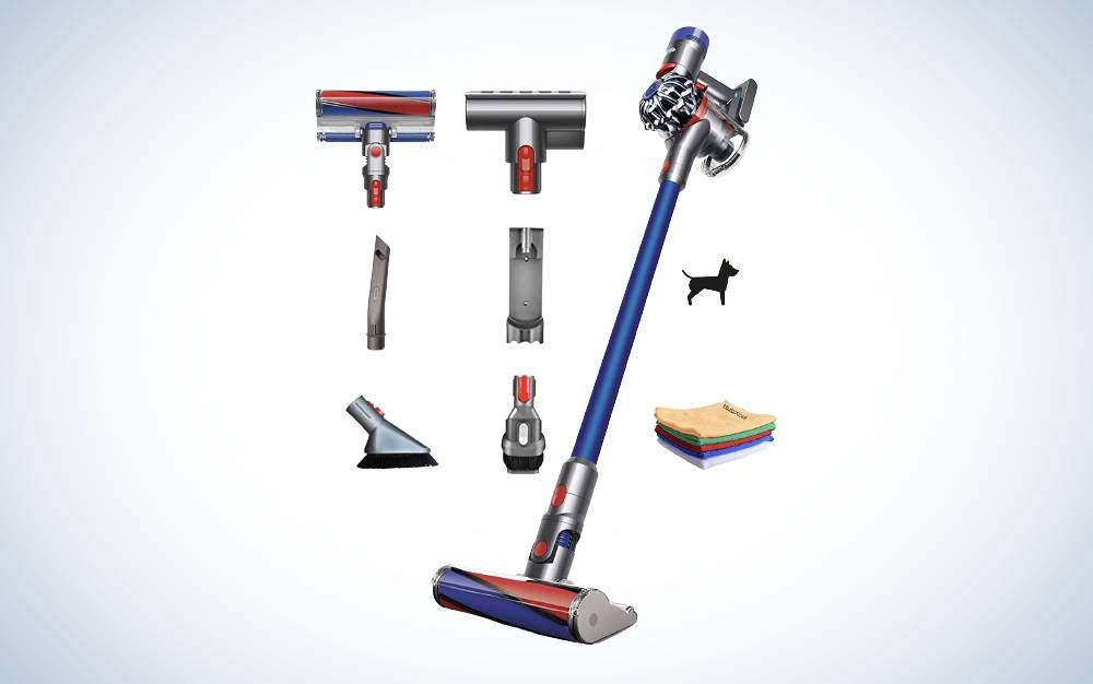 The Premium Dyson V7 Allergy HEPA Cordless Stick Vacuum Cleaner is the best cordless.