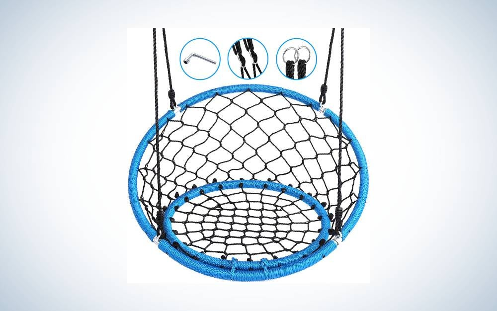 The Serenelife Hanging Netted Seat Swing is the best for relaxation