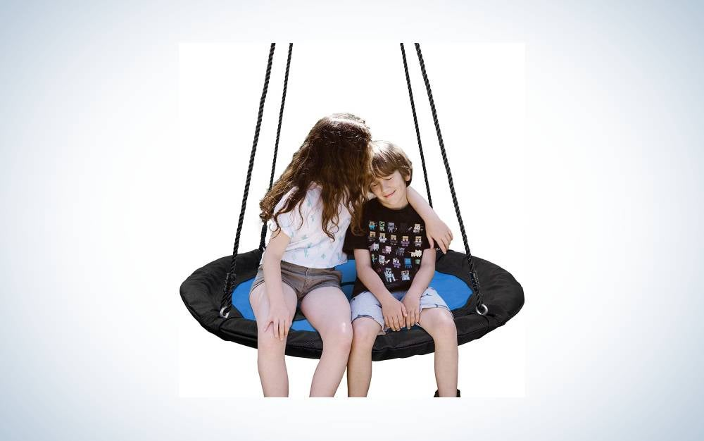 The Super Deal Waterproof Saucer Tree Swing is the best overall